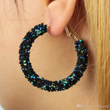 Club Dresses | Club Outfits | Party Dresses jewelry, Big Hoop Rhinestone Crystal Earrings Geometric Round Shiny - Clubbing Love