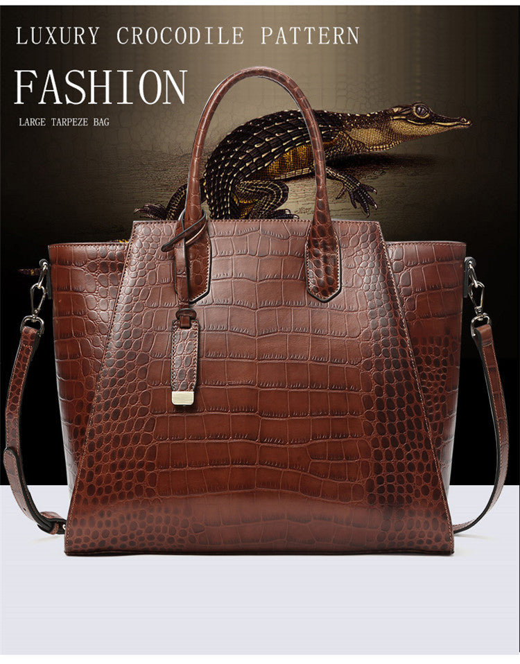Club Dresses | Club Outfits | Party Dresses Bags, 100% Genuine Leather Women Crocodile Cow Leather Handbag Vintage Large Tote Women Bag - Clubbing Love