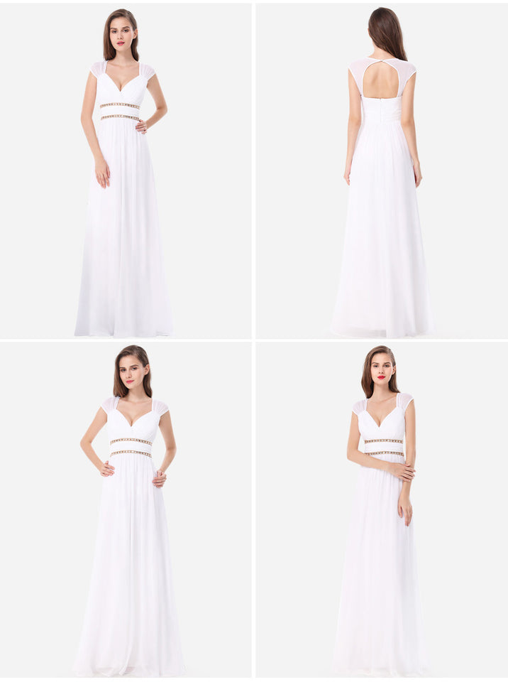 Club Dresses | Club Outfits | Party Dresses Dress, Sexy Bandage Evening Dresses Long  V neck Sleeveless Prom/Wedding/Bridesmaid/ Evening Dresses - Clubbing Love