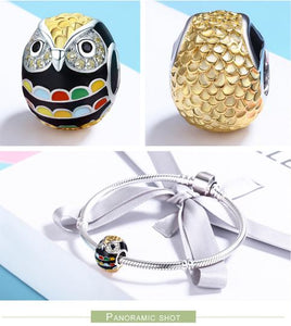 Club Dresses | Club Outfits | Party Dresses Pendants, Wise as Owls 925 Sterling Silver Gold Plated Animal Lovers Charms, Multi color Enamel Bead well for Necklaces Jewelry - Clubbing Love