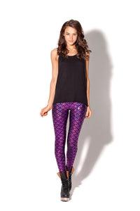 Club Dresses | Club Outfits | Party Dresses Legging, Women's Mermaid Fish Scale Printing Full Length Leggings - Clubbing Love