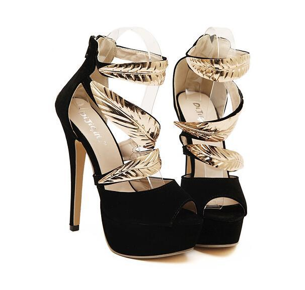 Club Dresses | Club Outfits | Party Dresses shoes, Shoes | Sexy Metal Leaves - Clubbing Love