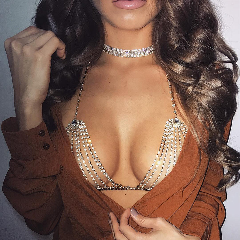 Club Dresses | Club Outfits | Party Dresses jewelry, Rhinestone Crystal Bikini Bra Top - Clubbing Love
