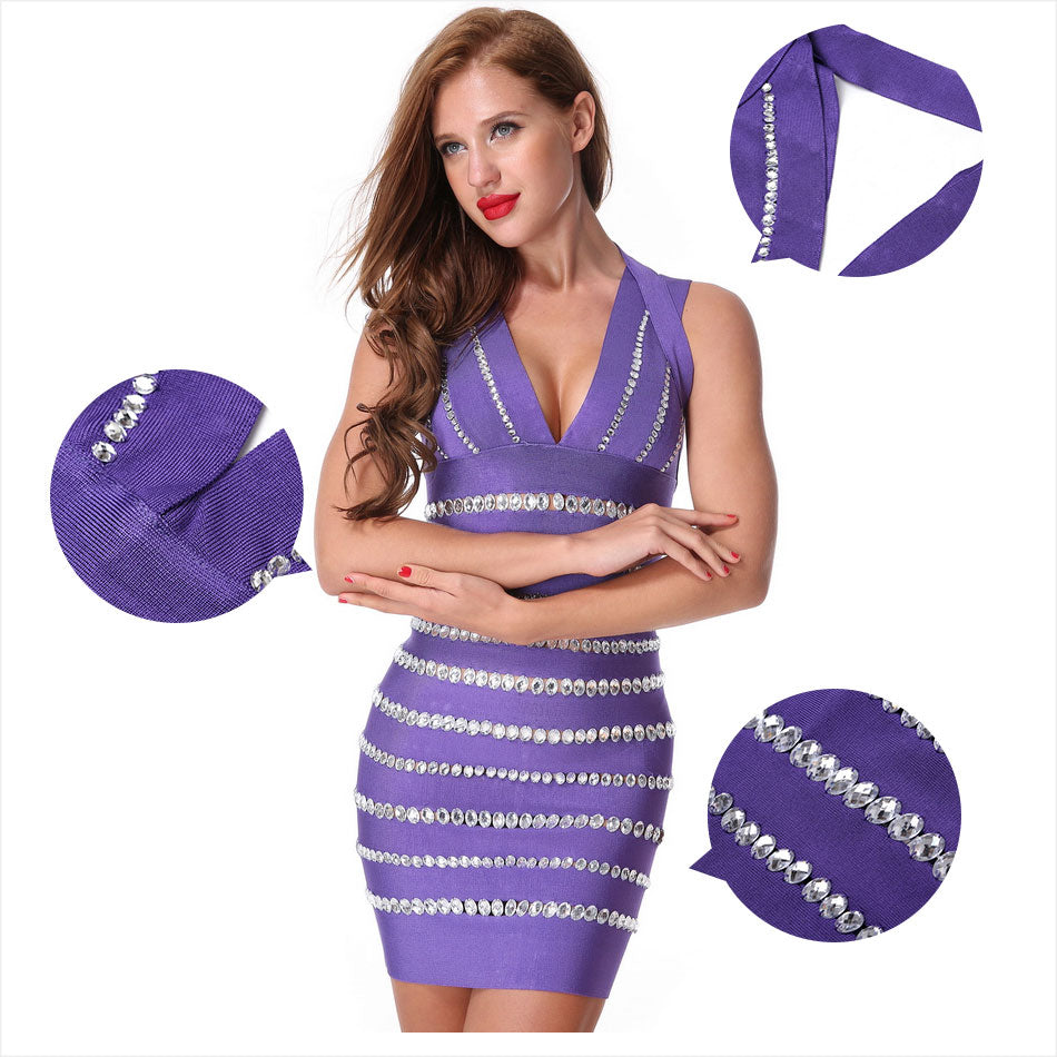 Club Dresses | Club Outfits | Party Dresses Dress, Club Dresses | Party Dresses | Beading V-neck Bandage - Clubbing Love