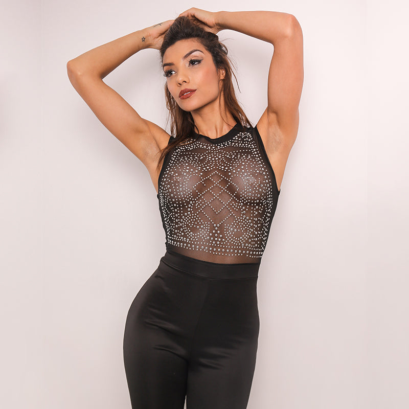 Club Dresses | Club Outfits | Party Dresses Dress, Club Dresses | Party Dresses | Rhinestone Sexy Jumpsuit - Clubbing Love