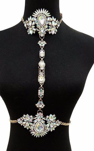 Jewelry | Multicolor Crystal Choker - Club Dresses | Party Dresses | Club Outfits. Club Dresses from ClubbingLove.com