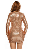 Club Dresses | Club Outfits | Party Dresses Dress, Club Dresses | Party Dresses | Long-sleeve Gold-seq - Clubbing Love