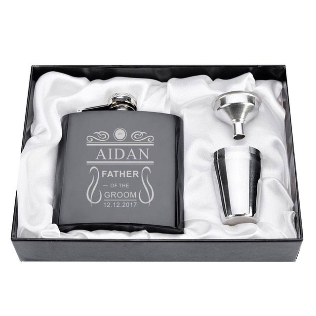 Club Dresses | Club Outfits | Party Dresses Personalized, 1 Set Personalized Engraved 6oz Black Stainless Steel Hip Flask With Box Wedding Favors Best Man gift Groom gift Groomsman Gift - Clubbing Love