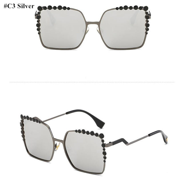 Sunglasses | Oversize  Diamond - Club Dresses | Party Dresses | Club Outfits. Club Dresses from ClubbingLove.com