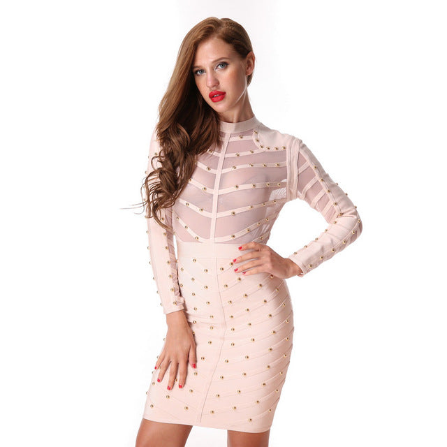 Club Dresses | Club Outfits | Party Dresses Dress, Club Dresses | Party Dresses | Bandage  Stretch Mesh - Clubbing Love