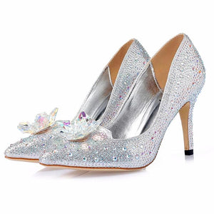 New Rhinestone Cinderella Shoes - Club Dresses | Party Dresses | Club Outfits. Club Dresses from ClubbingLove.com