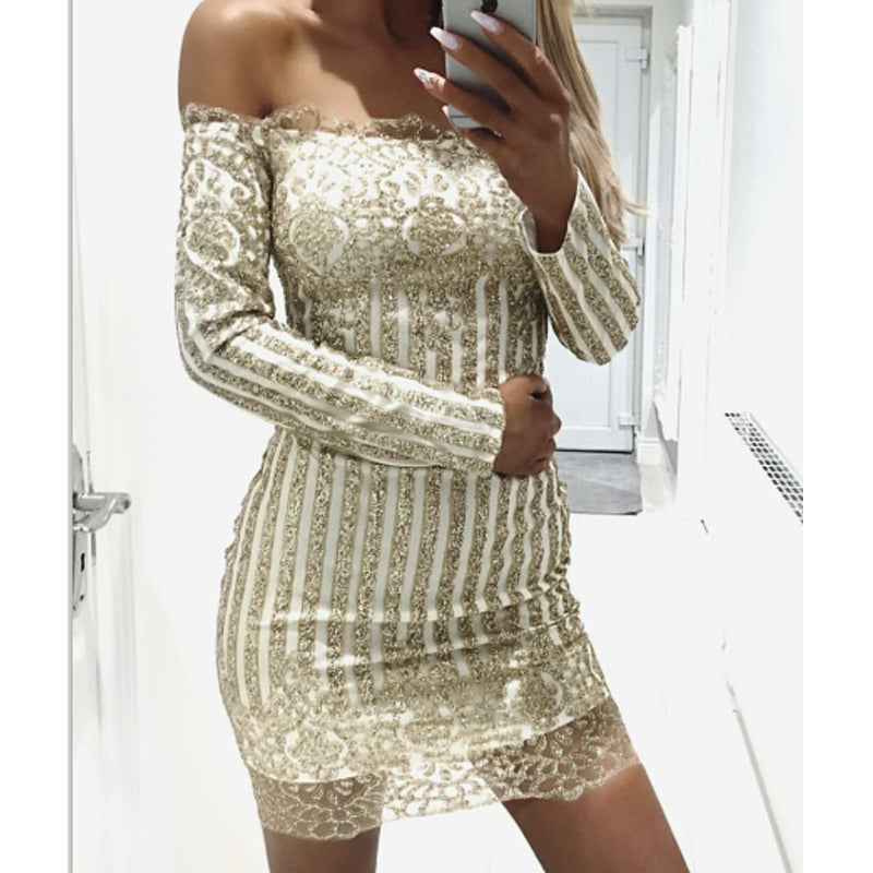 Club Dresses | Club Outfits | Party Dresses Dress, Club Dresses | Party Dresses | Sexy Gold Glitter - Clubbing Love