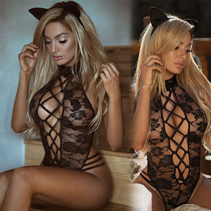 Club Dresses | Club Outfits | Party Dresses Lingerie, Hot Sexy Lace Lingerie Babydoll Lace Bodysuit Womens Nightwear Black G-string Floral Sleeveless Sleepwear Underwears Teddies Lingerie - Clubbing Love