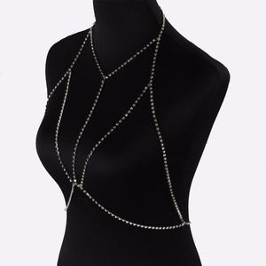 Club Dresses | Club Outfits | Party Dresses jewelry, Jewelry | Crystal Bra Rhinestone - Clubbing Love