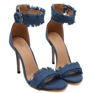 Club Dresses | Club Outfits | Party Dresses shoes, Shoes | Denim High-Heeled - Clubbing Love