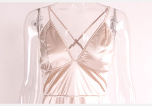 Club Dresses | Party Dresses | Satin Gold