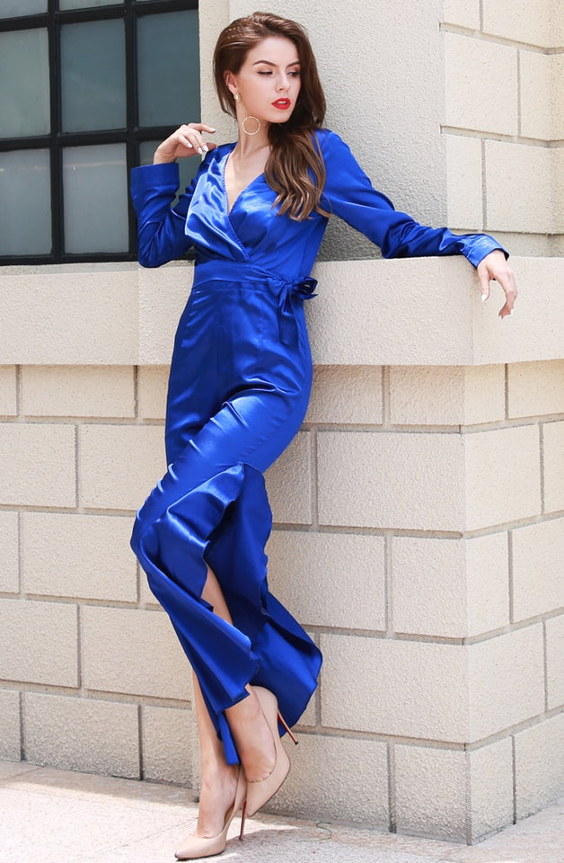 Club Dresses | Club Outfits | Party Dresses Dress, Club Dresses | Party Dresses | Royal Blue Satin Jumpsuit - Clubbing Love