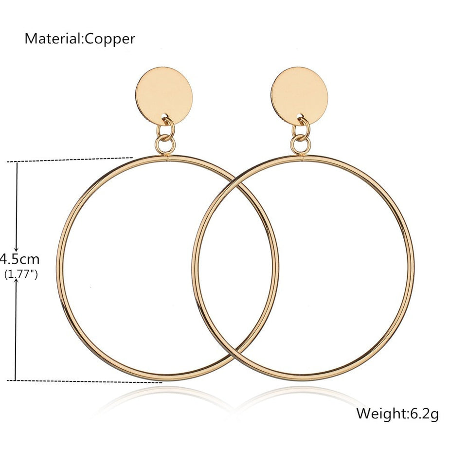 Club Dresses | Club Outfits | Party Dresses jewelry, Rounded Tube Hoop Earrings Big Round Circle Earrings For Women Fashion Large Hollow Drop Earrings Jewelry - Clubbing Love