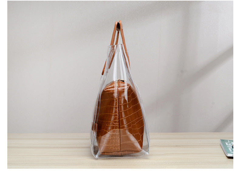 Club Dresses | Club Outfits | Party Dresses Bags, Waterproof Transparent Women Classy Handbag Clear Tote Beach Shoulder Crossbody Bag - Clubbing Love