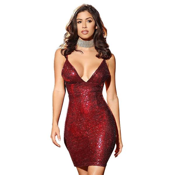 Club Dresses | Club Outfits | Party Dresses Dress, Casual Sequin Dresses Women Spaghetti Straps V Neckline Above Knee Length Mini Prom Party Dress - Clubbing Love