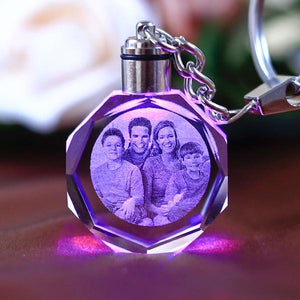 Personalized Photo Custom Engraved Tag with Changing LED Light -Wedding Party Favors Gifts Family Friend Baby Souvenirs Unusual Birthday Valentines Day Gift Festive Party Event