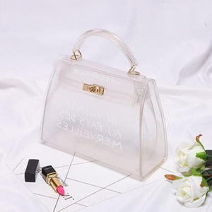 Club Dresses | Club Outfits | Party Dresses Bags, Clear Transparent PVC Shoulder Bags Women Candy Color Women Jelly Bags Purse Solid Color Handbags Large Capacity Crossbody Bag - Clubbing Love