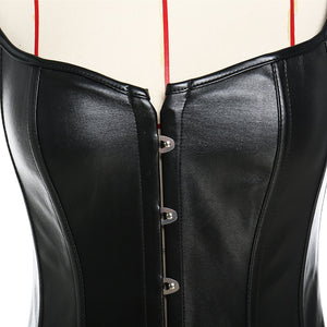 Sexy Plus Size S-6XL Faux Leather Waist Clincher Corset Lingerie New Steampunk Steel Boned Lace up Back Sexy Body Bustier Overbust