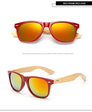 Vintage Bamboo Sunglasses Men Retro Women Bamboo Wood sun glass Male mirror Brand Wooden Square Sun Glasses for Female