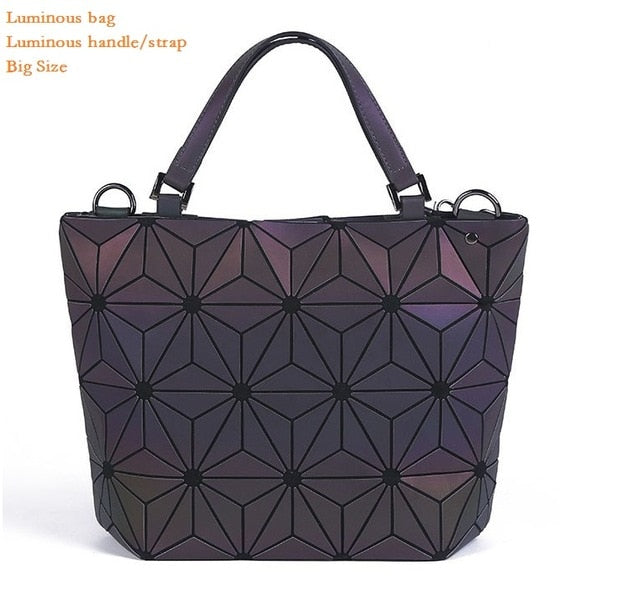 Club Dresses | Club Outfits | Party Dresses Bags, Women's Geometric Handbags Holographic Luminous Purses with Zipper Closure Messenger Bags - Clubbing Love