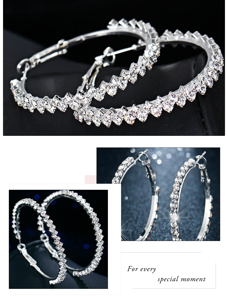 Club Dresses | Club Outfits | Party Dresses jewelry, Hoop Crystal Oversize Earrings - Clubbing Love