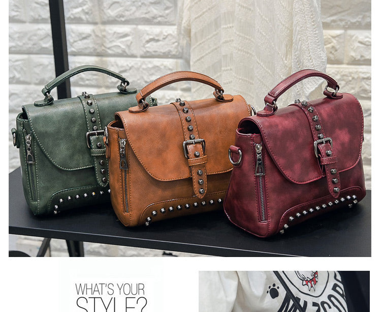 Club Dresses | Club Outfits | Party Dresses Bags, Crossbody Bags For Women Messenger Bags 2018 Vintage Leather Bags Handbags Women Famous Brand Rivet Small Shoulder Sac A522 - Clubbing Love