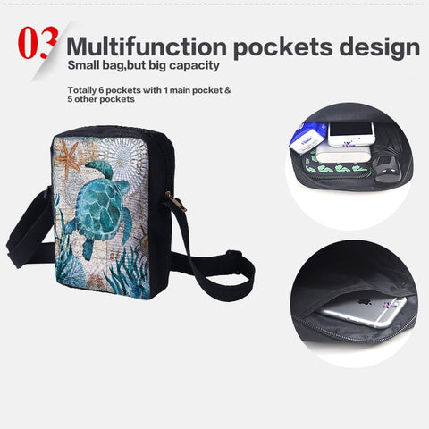 Customize Crossbody Bags new design messenger bag 3D Customize Personalized Pattern Ladies Crossbody bag 23x17x5cm