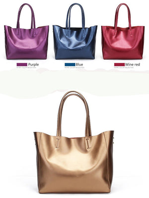 Tote Genuine Leather Large Capacity