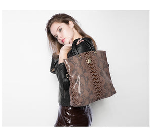 Genuine Leather Bags Female Snake Pattern Tote Bag Top Quality Leather Handbags Evening Clutch Shoulder Bag - Club Dresses | Party Dresses | Club Outfits. Club Dresses from ClubbingLove.com