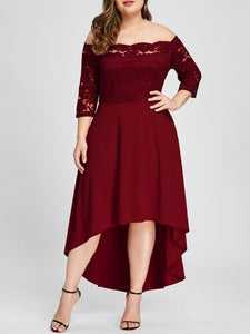 Club Dresses | Club Outfits | Party Dresses plus size, Women's Plus Size Vintage Lace Dip High Low Cocktail Party Dress - Clubbing Love