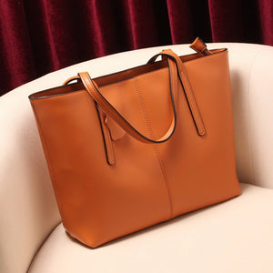 Genuine leather women's shoulder bag soft leather tote bags - Club Dresses | Party Dresses | Club Outfits. Club Dresses from ClubbingLove.com