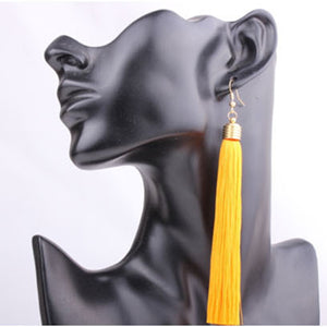 Vintage Ethnic Long Tassel Earrings Women Fashion Brand Jewelry Geometric Alloy Plating Simple Dangle Drop Earrings - Club Dresses | Party Dresses | Club Outfits. Club Dresses from ClubbingLove.com