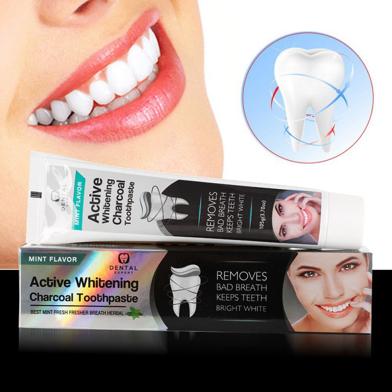 Activated Charcoal Teeth Whitening Toothpaste Destroys Bad