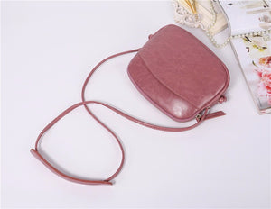 Genuine Oil wax cowhide leather women's cross body bag soft leather - Club Dresses | Party Dresses | Club Outfits. Club Dresses from ClubbingLove.com
