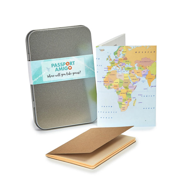Atlas World Map Travel Wallet Set