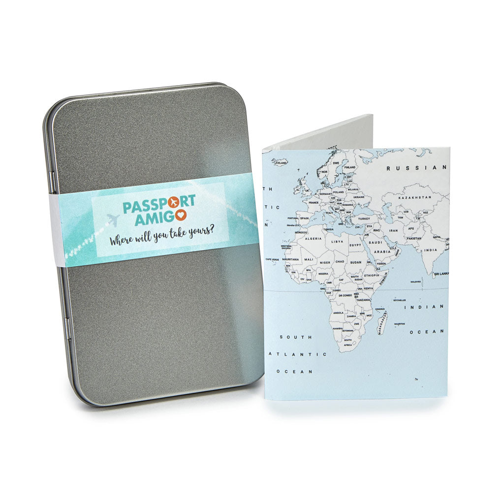 Blue Sea World Map Travel Wallet