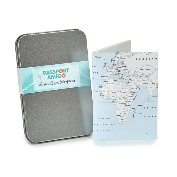 Blue Sea World Map Travel Wallet (Colour-in)