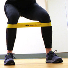 BodySport Resistance Loop Bands - Squat exercise with band