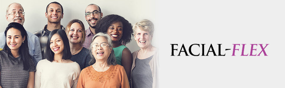 Facial Flex header - Title with group of people
