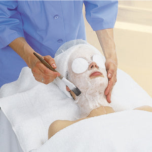 Paraffin Wax applied to the face