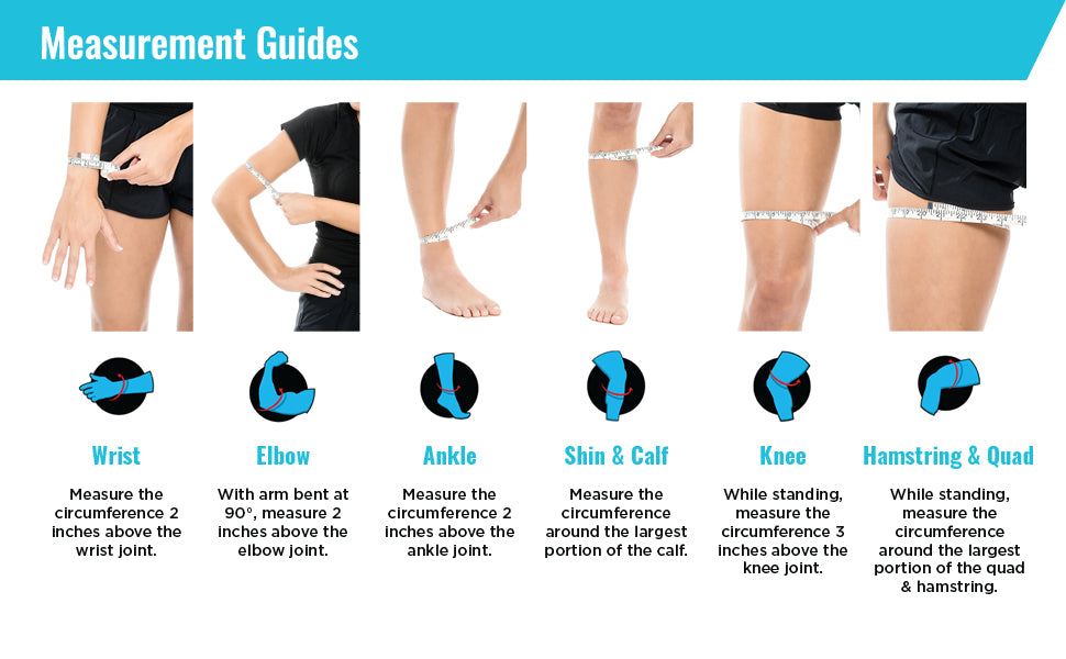 Freeze Sleeve Cold Therapy Compression Sleeve - measurement infographic