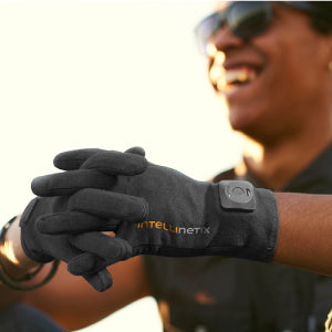 Intellinetix Vibrating Therapy Gloves In Use