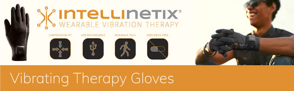 Intellinetix Vibrating Therapy Gloves Icons