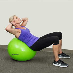 BodyMed Fitness Ball - doing sit ups on ball