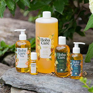Hobacare Jojoba - group shot of Hobacare jojoba products